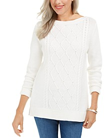 Cable-Knit Beaded Sweater, Created For Macy's