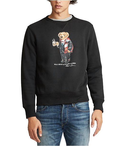 Polo Ralph Lauren Men's Cocoa Bear Fleece Sweatshirt