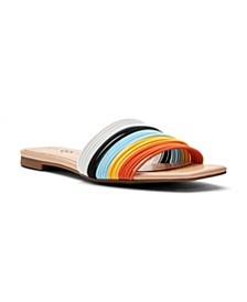 Weiss Slide Flat Sandals