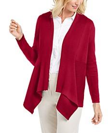 Ribbed Handkerchief-Hem Cardigan, Created For Macy's