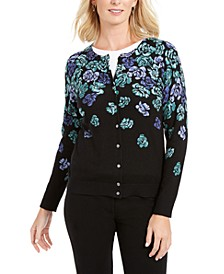 Serenity Floral-Print Cardigan, Created for Macy's