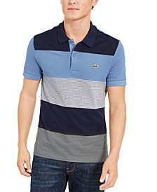 Men's Tattersall Pique Plaid Classic Fit Polo Shirt