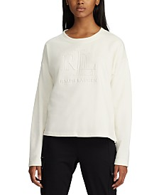 Lauren Ralph Lauren Logo-Foil-Print French Terry Sweater