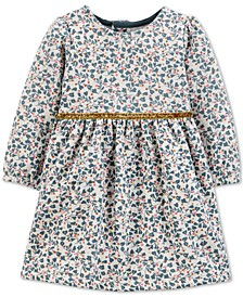 Baby Girls Floral-Print Fleece Dress