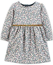 Carter's Baby Girls Floral-Print Fleece Dress