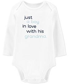 Baby Boys Grandma Cotton Bodysuit