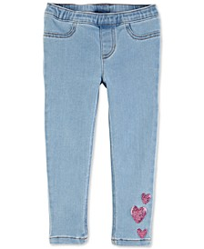 Baby Girls Heart Pull-On Jeggings
