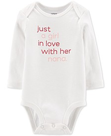 Baby Girls Cotton In Love With Nana Bodysuit