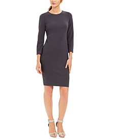Diagonal-Seam Sheath Dress