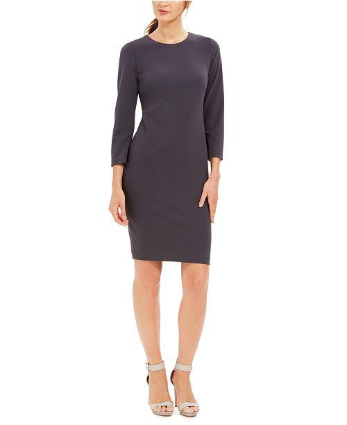 Calvin Klein Diagonal-Seam Sheath Dress