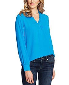 Ruffled V-Neck Top