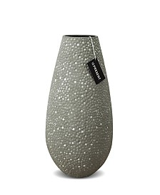 Drop Wide Ceramic Vase 13.7""