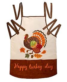 Glitzhome Cotton Embroidered Turkey Apron