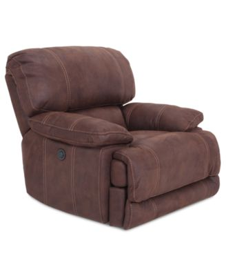 jedd fabric power recliner chair created for macyu0027s - Mission Style Recliner
