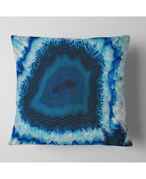 "Design Art Designart Brazilian Thunder Egg Abstract Throw Pillow - 18"" X 18"""