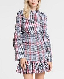 Smocked Check Dress