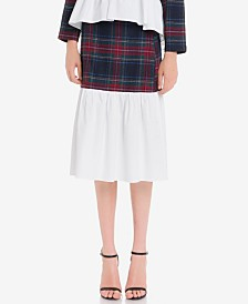 English Factory Tartan Combo Skirt
