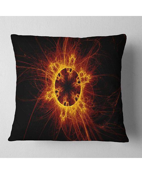 "Design Art Designart Solar Eclipse Digital Illustration Abstract Throw Pillow - 16"" X 16"""