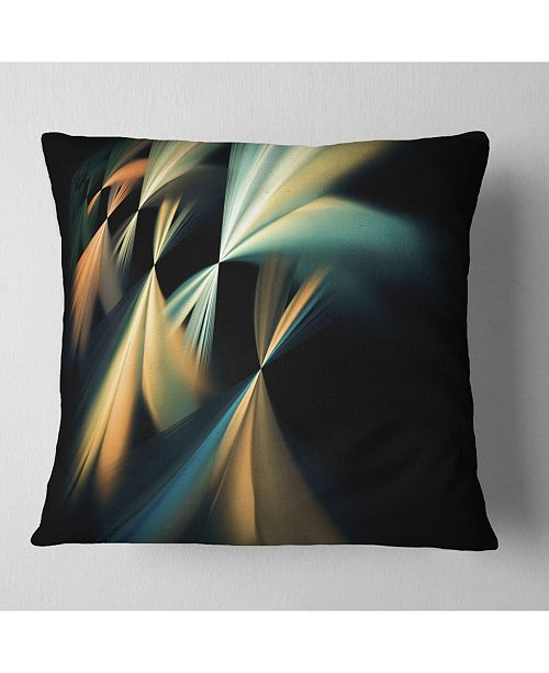 "Design Art Designart Floating Abstract Fractal Designs Abstract Throw Pillow - 16"" X 16"""