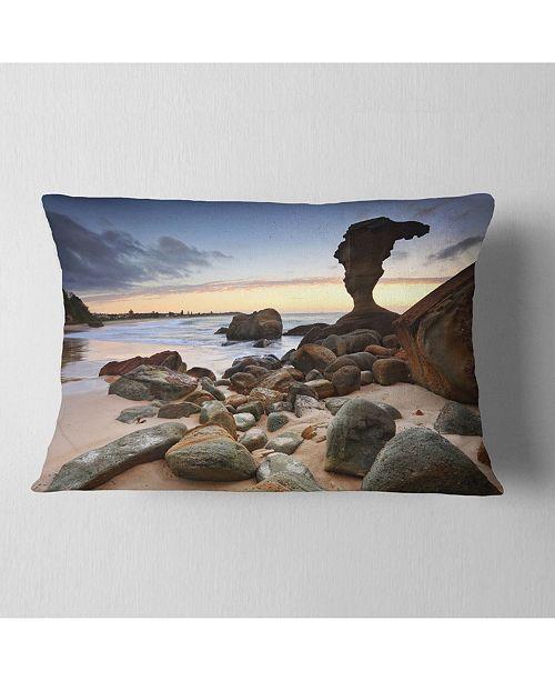 "Design Art Designart Noraville Central Coast Australia Modern Seashore Throw Pillow - 12"" X 20"""