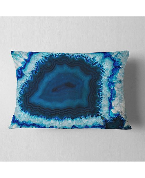 "Design Art Designart Brazilian Thunder Egg Abstract Throw Pillow - 12"" X 20"""