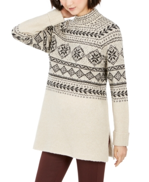 Cottagecore Clothing, Soft Aesthetic Style  Co Fair-Isle Tunic Sweater Created for Macys $29.75 AT vintagedancer.com