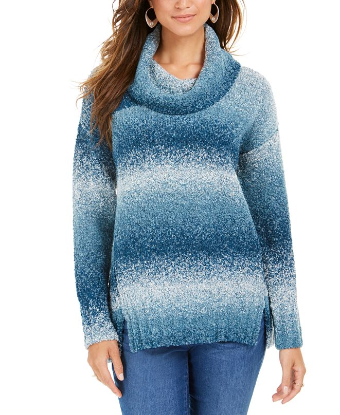 Style & Co Ombré Boucle Sweater, Created for Macy's