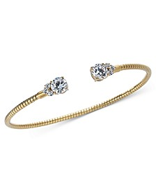 Gold-Tone Crystal Coil Cuff Bracelet, Created for Macy's