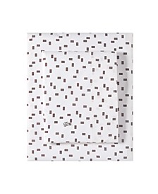 Lacoste Raster Queen Sheet Set