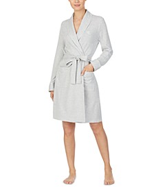 Women's Herringbone Short Wrap Robe
