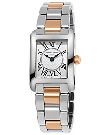 Women's Swiss Classics Carre Two-Tone Stainless Steel Bracelet Watch 23x21mm