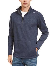 Hi-Tec Men's Woods Point Quarter-Zip Fleece Sweater