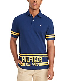 Men's Hemenway Regular-Fit Stripe Logo-Print Polo Shirt