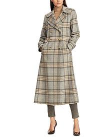Lauren Ralph Lauren Plaid Double-Breasted Maxi Coat