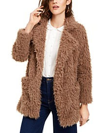 Penny Lane Shaggy Faux-Fur Coat