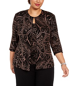 Plus Size Printed Twinset