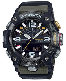 G-Shock Men's Analog-Digital Connected Mudmaster Green & Black Resin Strap Watch 53.1mm