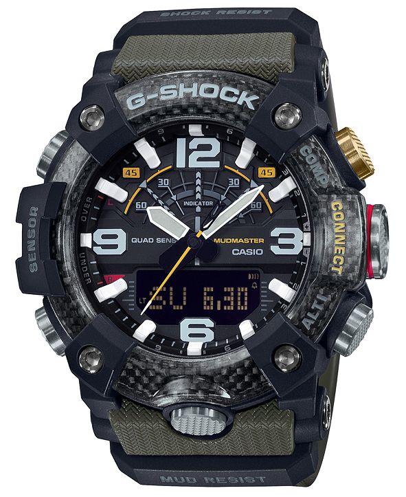 G-Shock Men's Analog-Digital Connected Mudmaster Green & Black Resin Strap Watch 53.1mm