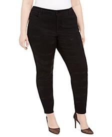 INC Plus Size Rhinestone Embellished Skinny Jeans