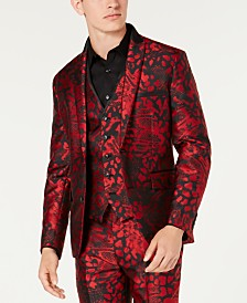 I.N.C. Men's Slim-Fit Animal Print Blazer, Created for Macy's