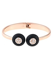 12K Rose Gold-Plated Hinged Cuff Bracelet