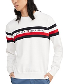 Men's Casper Regular-Fit Stripe Embroidered Logo Sweater