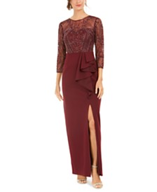 Adrianna Papell Beaded Column Gown