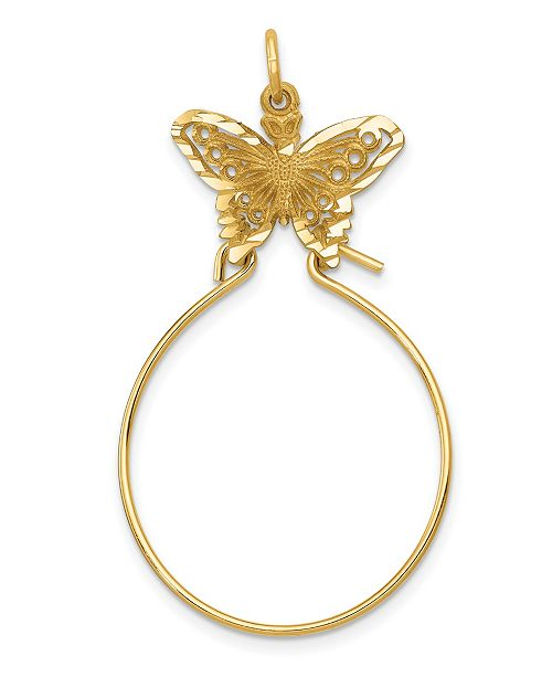 Macy's Butterfly Holder Charm in 14k Yellow Gold