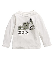 Baby Boys Construction-Print Cotton T-Shirt, Created For Macy's