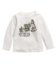 First Impressions Baby Boys Construction-Print Cotton T-Shirt, Created For Macy's