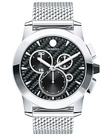 Men's Swiss Chronograph Vizio Stainless Steel Mesh Bracelet Watch 45mm