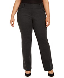 Alfani Plus Size Mid-Rise Pants, Created For Macy's