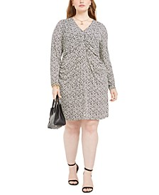 Plus Size Ruched Printed Dress