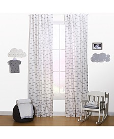 "The Peanutshell 42"" x 84"" Cloud Print Blackout Curtain Set"